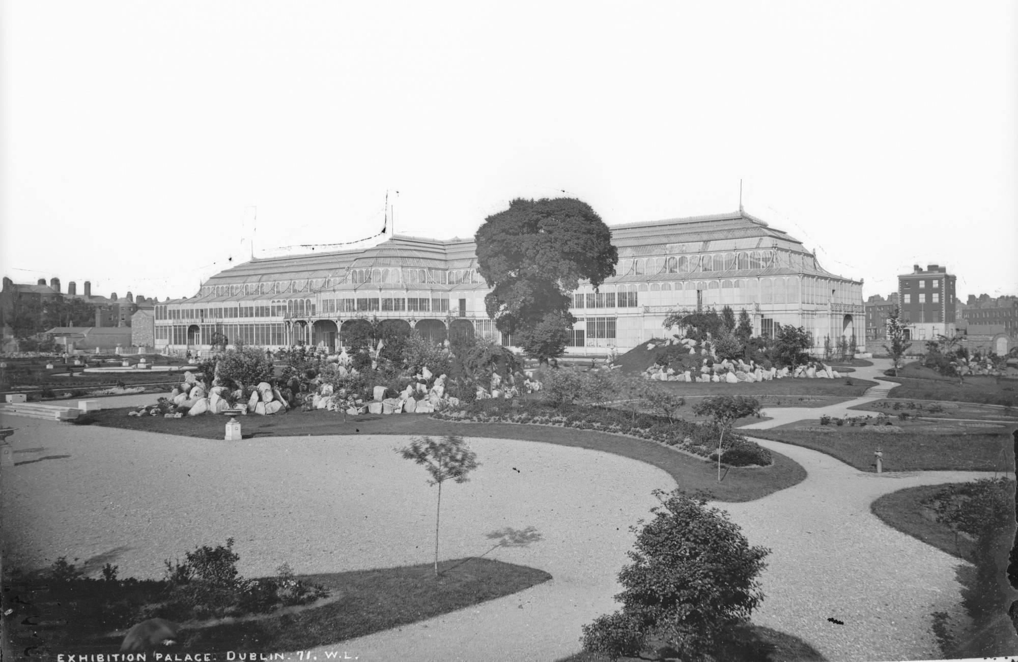 The Exhibition Palace and Garden, the Lawrence Collection. National Library of Ireland.