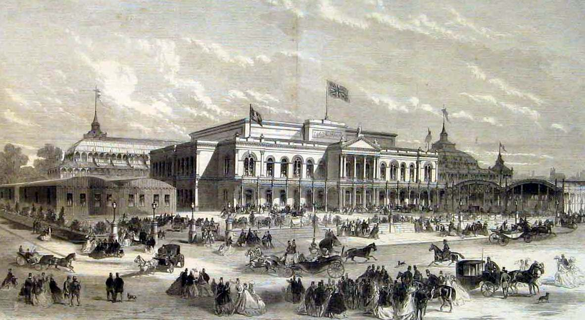 Opening of the Exhibition, as illustrated in the Illustrated London News 4th March 1865. Illustrated London News.